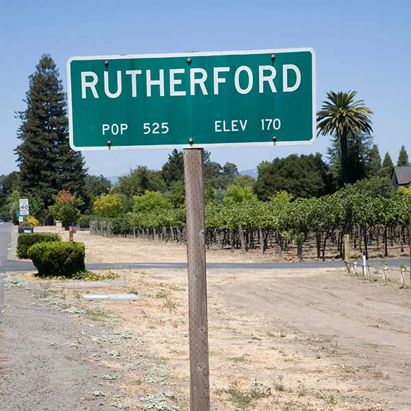 Rutherford road sign